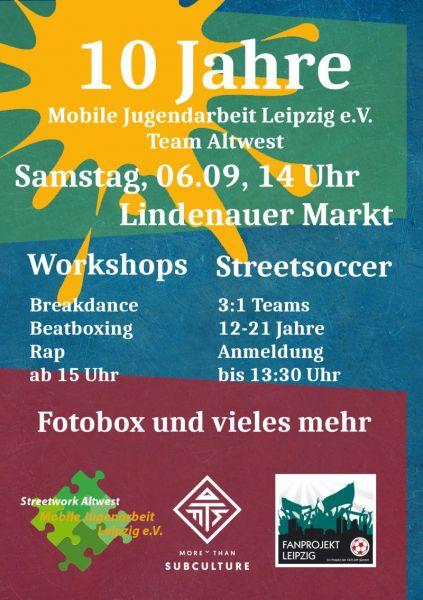 10 Jahre Team Altwest Mobile Jugendarbeit Leipzig Ev